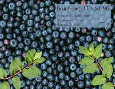 And here's what it's made of - blueberries and mint leaves...