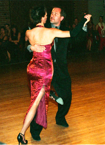 Performing at a Tango Gala event with my friend Mariah